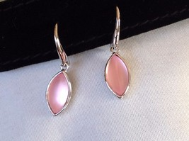 New NWOT Annaleece Playful Earrings Rhodium Light Rose Acrylic Stone