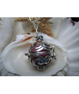 Sterling Silver Chime Ball Pendant with 26 inch Snake Chain - $25.99