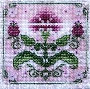 Tiny Pink Carnation Alphabet Sampler Teenie Tweenie cross stitch Sweetheart Tree