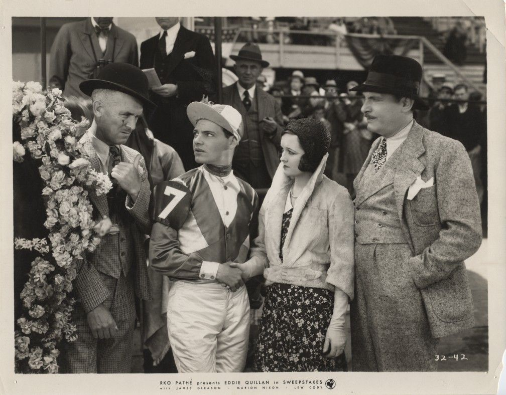 Lew CODY Jockey Marion NIXON Org Pathe Movie PHOTO E827