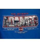 Harley-Davidson Motorcycles Jacksonville Florida 80 Years Blue T Shirt S... - $15.83