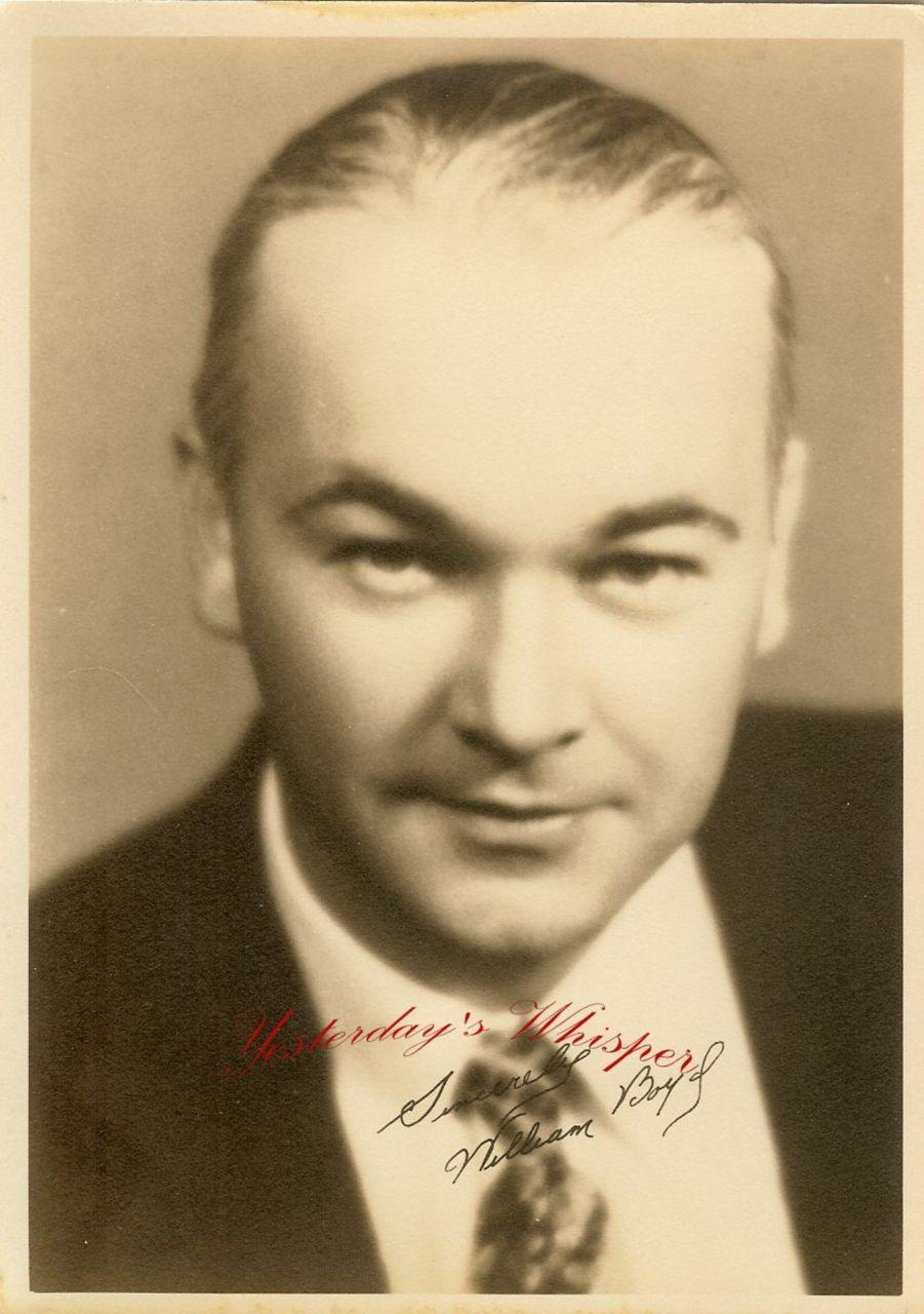 William BOYD Actor Org Silent Era FAN PHOTO F903