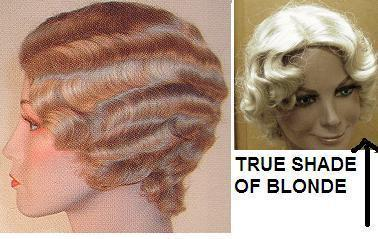 BLONDE WIG 20's FINGER WAVE FLAPPER or CHICAGO