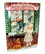 "Punch Studio 6 3D Christmas Cards & Envelopes Santa's Window 64453 5""x 7"" - $14.95"