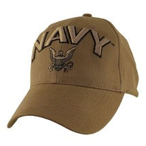 US NAVY COYOTE BROWN EMBROIDERED HAT CAP  - $33.24