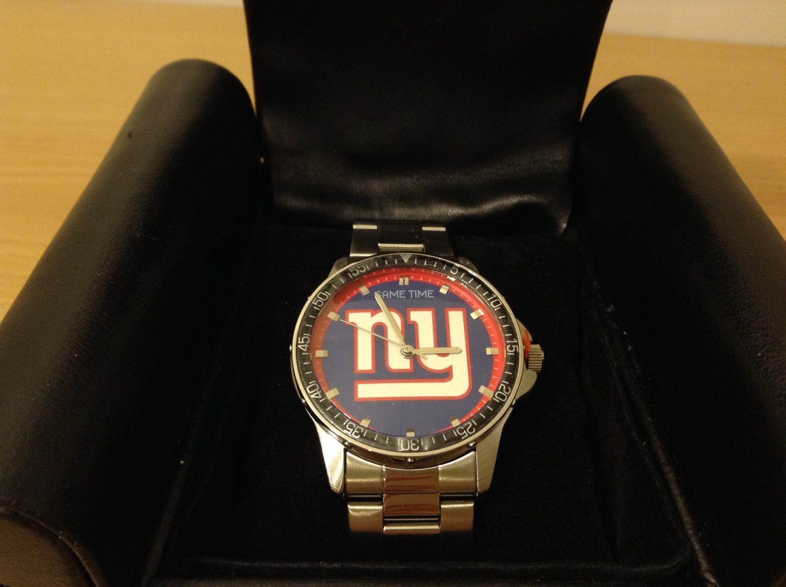 Game Time NY GIANTS Stainless Steel Coach Series Analog Watch