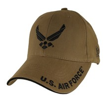 US AIR FORCE WINGS COYOTE BROWN EMBROIDERED HAT CAP  - $33.24