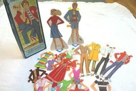 Whitman Mattel 1981 starr & shaun 2 paper dolls 20 piece precut clothes - $9.90