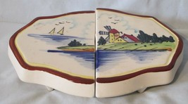 Trivet or Hot Plate Expandable Japan 1950's Pottery Windmill Picture - $29.59