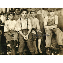 Boys Working in a Cotton Mill at West, Texas in 1913 by Lewis Hine Photo... - $11.18+
