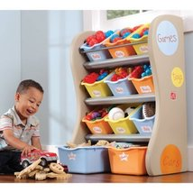 Storage Bin Toy Organizer with 9 Large Totes and 2 Extra-Large Totes - $110.00
