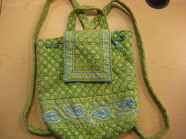 Vera Bradley Backpack in APPLE GREEN - $25.00