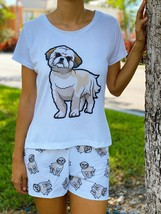 Dog Shih tzu pajama set with shorts for women Shihtzu - $30.00