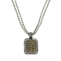 "1928 Vintage Estate Framed Forget Me Not Pendant w 16 "" Chains Necklace ... - $28.59"