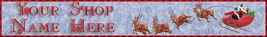 Santa Reindeer Website Banner Pro Quality - $7.00