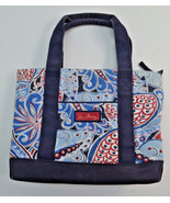 Vera Bradley Red White Blue Paisley Tote Shoppe... - $24.74