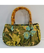 Ann Taylor Loft Green Blue Floral Hobo Purse Ba... - $24.74