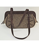 Ann Taylor Loft Herringobne Tweed Cloth Brown P... - $24.74
