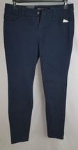 Style Co. Womens  Curvy-Fit Flocked-Dot Skinny Jeans Indigo Blue - $22.99