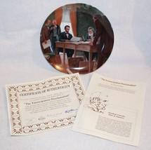 1988 Knowles The Emancipation Proclamation Collector Numbered Plate with... - $14.99