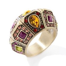 """Heidi Daus """"Tiered Delights"""" Crystal Domed Band Ring Size 6 - $64.95"""