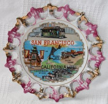 "Vintage San Francisco 8.25"" Collector Plate with Gold and Pink Scalloped... - $14.99"