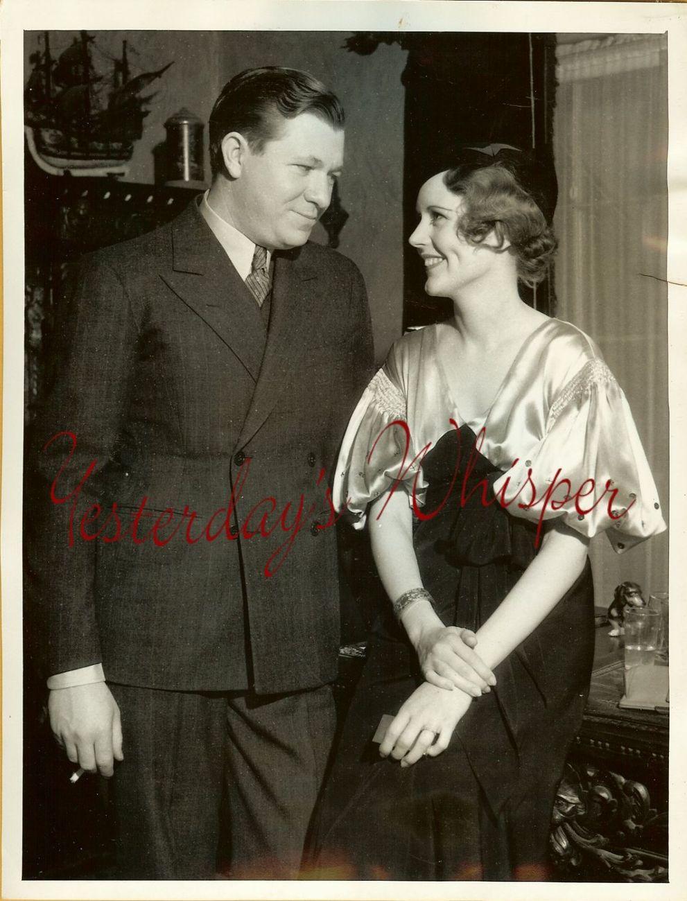 June COLLYER Stuart ERWIN Hollywood SOCIAL ORG PHOTO
