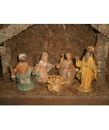 Wooden Nativity Scene Music Box , Italy , Silent Night - $20.00