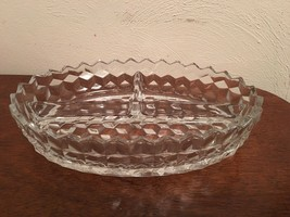 Vintage Fostoria Crystal American 3 Part Relish Tray Dish EUC MADE IN USA - $8.75