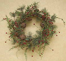 """Country Christmas Red Berry Pine Wreath, 22"""" Home Holiday Decor  - $87.20"""