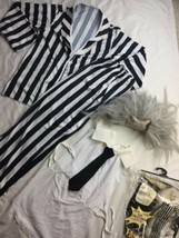 "Beetlejuice Costume Adult Halloween WIG INCLUDED Adult M Up To 44"" Jacket - $28.04"