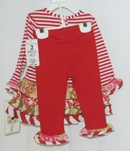 Rare editions Counting Daisies H170094 2 Piece Christmas Outfit Size 18 Months image 2
