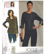 1081 UNCUT Vogue Sewing Pattern Misses Semi Fitted Blouse Vest Betzina C... - $9.93
