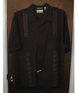 Mens Cubavera Shirt Size Large Dark Brown - $14.99