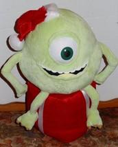 Disney Pixar Monsters Inc Plush Mike Holiday Christmas Greeter Santa Hat... - $25.00