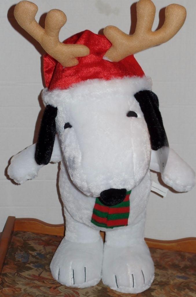 Peanuts Snoopy Santa Reindeer Christmas Holiday Greeter NEW - $42.00