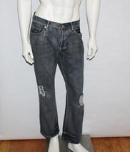 Mens Express Jeans Kingston Classic Fit Regular Rise Boot Cut Distressed... - $24.75
