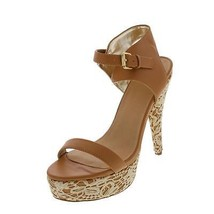 29f703869c53 Colin Stuart New Tan Lace Overlay Platform Heels Sandals Shoes 8.5M -  29.99