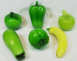 Art Glass Fruit & Vegetables Hand Blown Art Dec... - $32.33