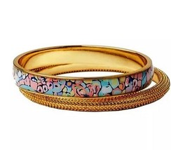 NWT Lilly Pulitzer Gypsy Jungle Print & Gold Bangle Set - $24.74