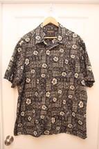 Woolrich Hawaiian Aloha Shirt XL Tropical Fish Leaf Floral Button-Front ... - $11.88