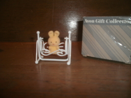 Avon Spring Bunny Collection , Bunny In A White Cradle - $3.00