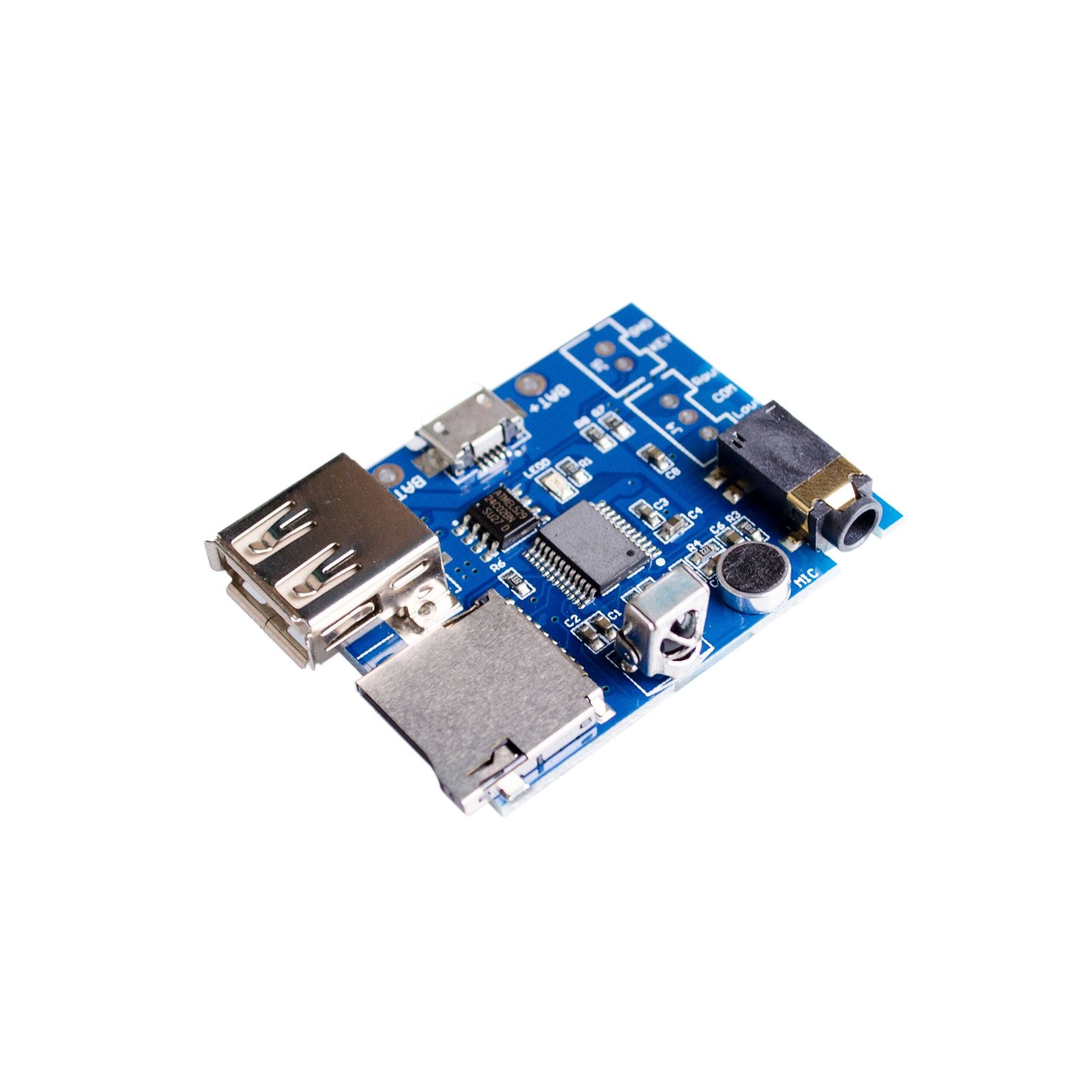 5SETS/LOT MP3 +WAV+WMA Decoder Board 2W Amplifier TF Card Audio AUX WITH Remote