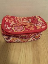 Gently Used! Vera Bradley Small Pink Floral Toiletry/Makeup Bag -Free Shipping - $12.86