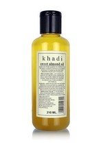 New Khadi Sweet Almond Oil Massage Oil It is An Ayurvedic Product 210ml - $18.81