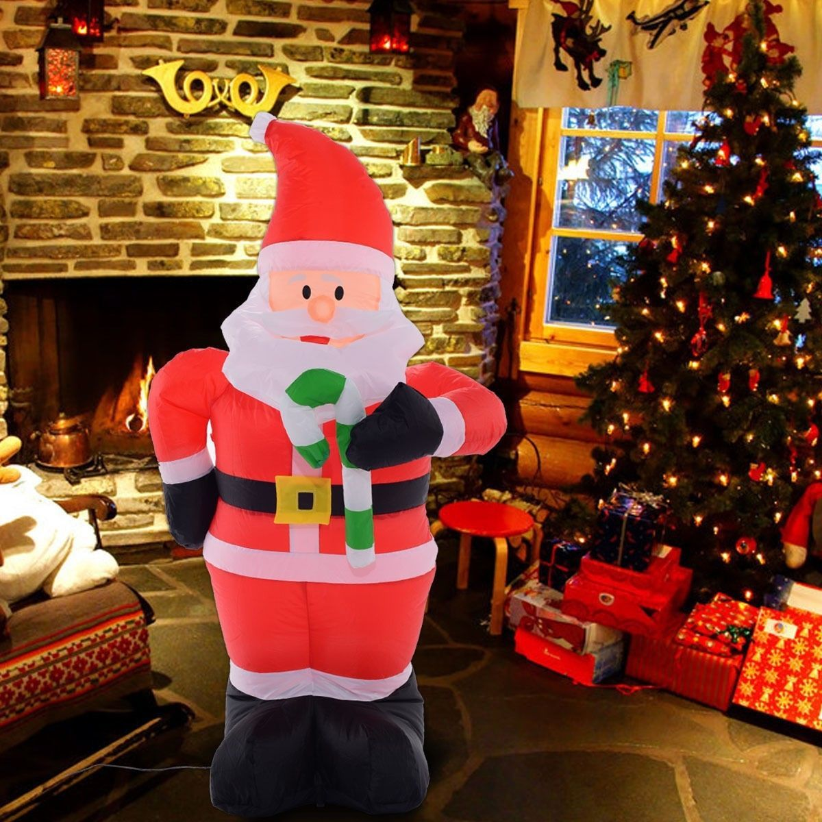 Inflatable christmas santa claus decoration and 50 similar for 4 foot santa claus decoration