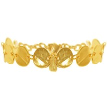 Karine Sultan 24K Gold-Plate Small Medallion Bracelet, Made in France, 7... - $59.95