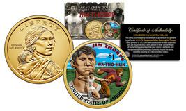 2018 Native American JIM THORPE Color Genuine Legal Tender $1 Sacagawea ... - $8.56