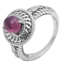 New Jewelry Collection for Women 1.35 Ct Pink Tourmaline StoneRing Sz O SHRI0746 - $23.36