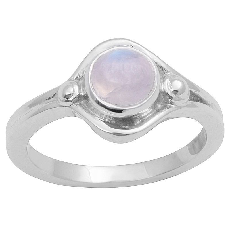 Newest Rainbow Moonstone Solid Gemstone 925 Sterling Silver Ring Sz P SHRI0748